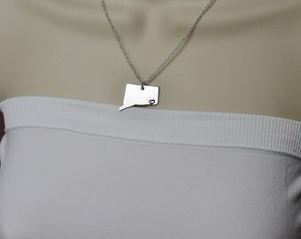 Connecticut State Necklace, ANY City State Necklace, CT Necklace, State Jewelry