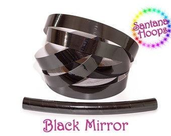 Black Mirror Taped Performance Hula Hoop Polypro or HDPE