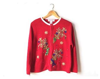 Ugly Christmas sweater, tacky Christmas sweater, vintage Christmas sweater, large Christmas sweater, Christmas jumper