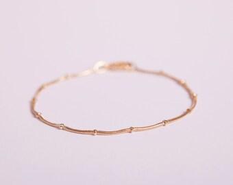 Pretty Bracelet Golden Ball Chain Beads Chain Plated  Gold Plated Ballchain