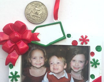 Personalized Photo Frame Christmas Ornament - Photo Frame Ornament - Personalized Christmas Ornament