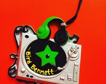 DJ Turntable Christmas Ornament // Personalized Ornament // Gift for Music Lover