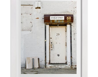 Brooklyn Print, 29 Imlay Street, New York Photography, Industrial Door in Red Hook, NYC Print, Urban, Original Signed Art