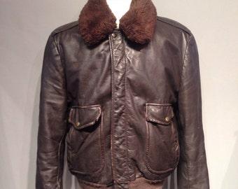 Aviator/Flight Leather Bomber Men
