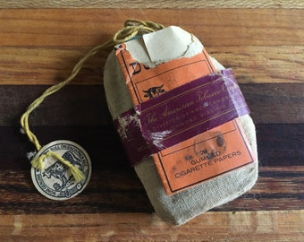 Antique Durham Tobacco Pouch with Rolling Papers