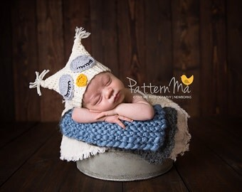 Crochet Baby Hat Pattern Sleepy Owl #4
