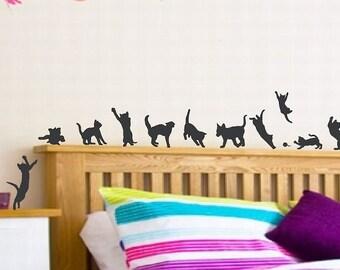 Kitten Decal Etsy - Custom vinyl wall decals cats