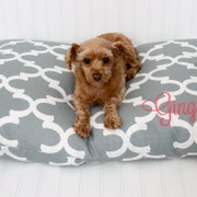 personalized monogrammed pillows : pet beds :littleyellownest