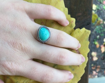 Sweet Turquoise Everyday Ring, Size 6
