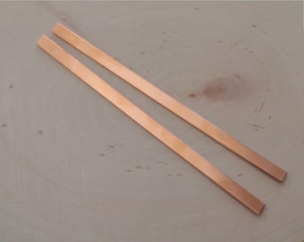 14 gauge 1/4 inch copper bracelet blanks , copper strips , copper cuff blanks - QTY 2