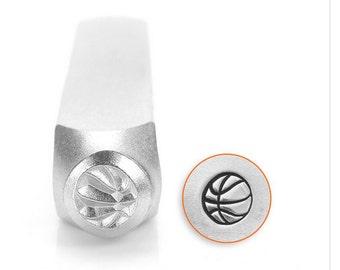 Basketball design metal stamp , sports stamp , metal stamping tool