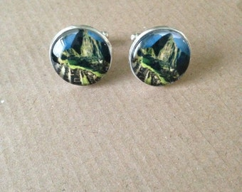 Machu Picchu Cuff Links - Unique Beautiful handmade