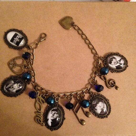 Beatles Charm Bracelet: The Beatles Themed Charm Bracelet Unique Beautiful Handmade