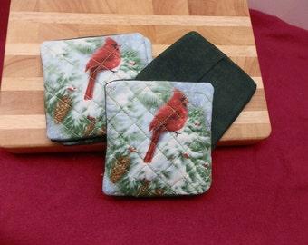 Coasters Cardinal Birds