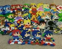Mystery Mushroom Amiibo Perlers | Super Mario Maker Costume Perlers | Nintendo, Legend of Zelda, Splatoon, Fire Emblem, Super Mario Brothers