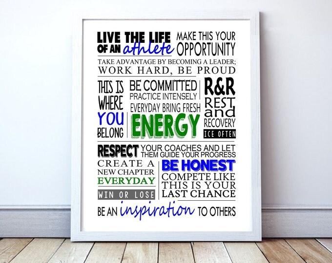 "Athlete ""Energy"" - Custom Manifesto Poster Print"