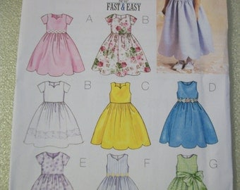 Butterick 3350 Childs/Girls Size 2,3,4,5 dress.  9 sew fast and easy!