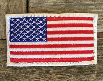 USA Flag Patch with White Border