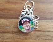 Reserved Special order for BB: Max Scherzer Washington Nationals 1 Inch Round Pendant, Trading Card Image