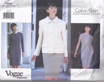 Vogue Calvin Klein 1868 Dress & Jacket pattern
