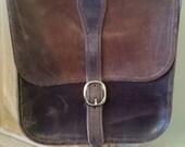 Handmade Dark Brown Oil-pulled Leather Bag