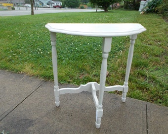 Vintage-Demi  Lune Painted Table at Ancient of Daze