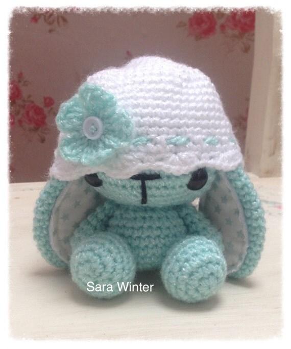 Amigurumi Crochet Bunny Rabbit wearing flower hat by ...