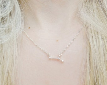 Aries Constellation Star Sign Zodiac Astrology Space Sci Fi Dainty Silver Pendant Necklace Jewellery Jewelry