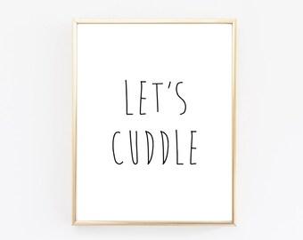 DIGITAL DOWNLOAD >>> Let's Cuddle Print - Cuddle Print - Cuddle Art