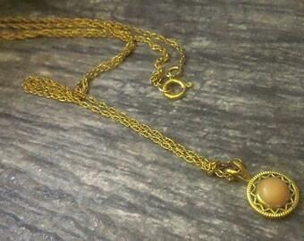 Vintage Coral Gold Filled Necklace