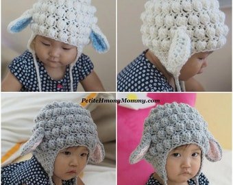 Lamb Crochet Earflap Hat