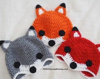 Fox Wolf Beanie Hat