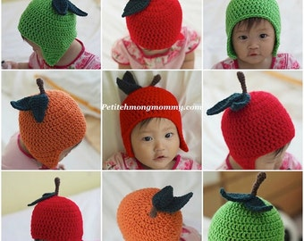 Apple or Orange Earflap Hat
