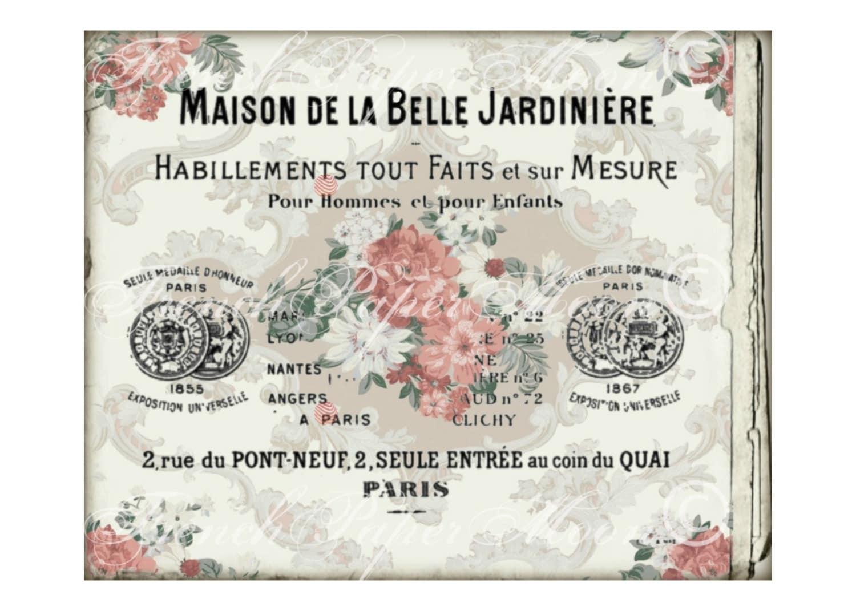 Digital French Card, Wallpaper Floral Background, Vintage Digital ...