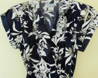 Vintage, 1980's, John Richard of California, Cotton, Print, Shirt Dress