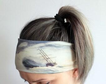 Yoga Headband - Workout Headband - Fitness Headband - Running Headband Boho Headband - Elastic Headband - Battleship Headband Y5