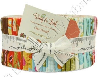 Moda Jelly Roll Fabric Wing and Leaf by Gina Martin 10060JR