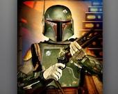 "Star Wars Inspired ""Boba Fett: Bounty Hunter Series""  11X14 Art Print by Herofied Empire Strikes Back"