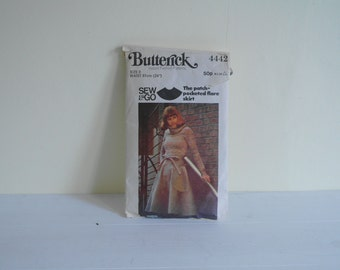 Butterick Flared Skirt Pattern Size 8 Waist 24 Inches - Used