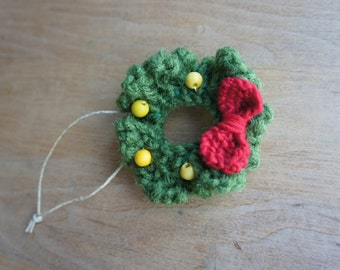 Mini wreath Christmas ornament decoration