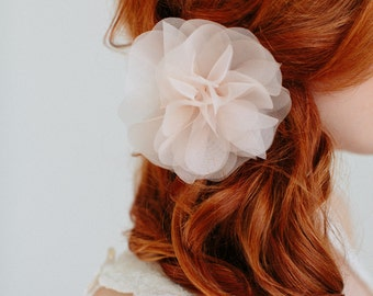 "Bridal Silk Flower,Wedding Hair Flower,Headpiece - ""Cara-Coloré"""