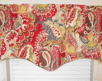 Window valance - pillows - window curtains - window valances - window curtains - curtains - red valance