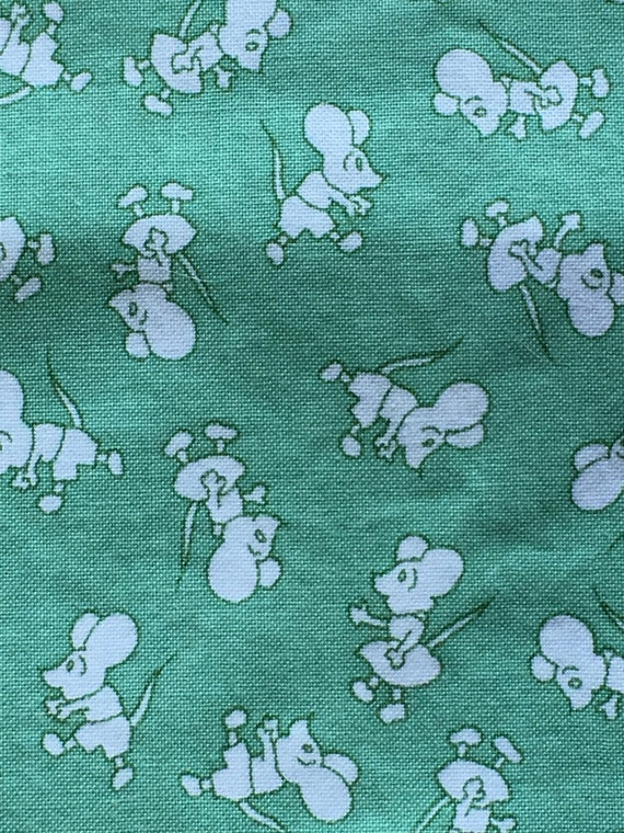 1930s repro vintage child 39 s novelty print cotton fabric for Vintage childrens fabric prints