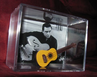 """Mr Johnny Cash """"Man in Black! Display"""" ....Guitar Will Not Come Out Of Case...We combine Shipping"""