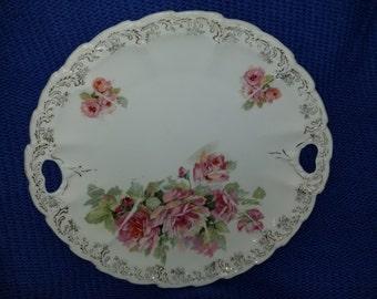Vintage Flowered Plate