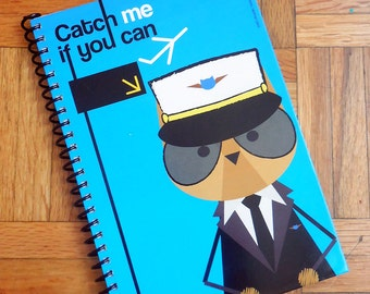 Catch Me If You Can, notebook 8.6 x 5.9 in. white or graph pages