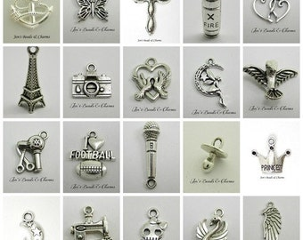 100 Pcs assorted charms
