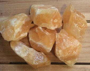 Orange Calcite Natural Stone, Healing Stone, Healing Crystal, Chakra Stones, Spiritual Stone