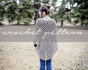 PATTERN: Knitbrooks Spring Cocoon Sweater Shrug Shawl Instant Download