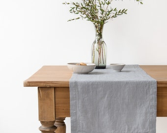 Light Grey Vintage Table Runner